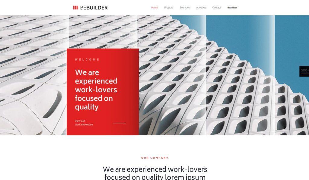 Betheme- construction company wordpress theme