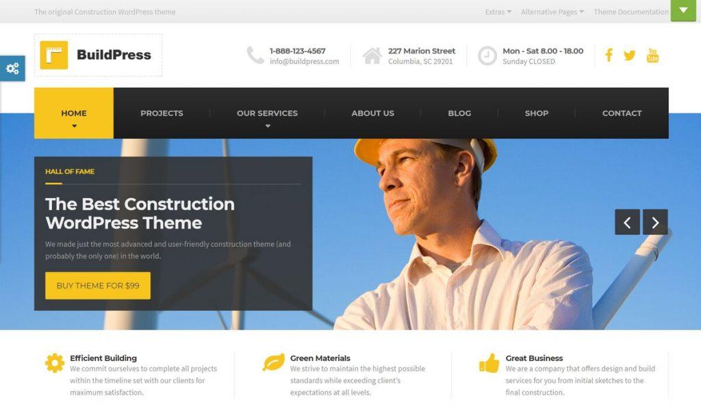 buildpress- construction company wordpress theme