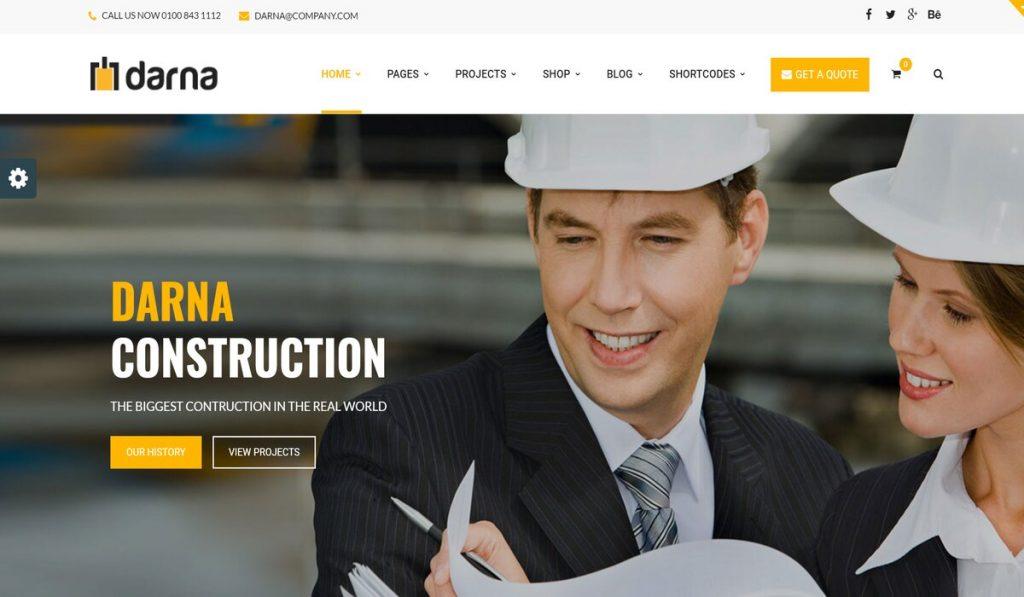 darna- construction company wordpress theme