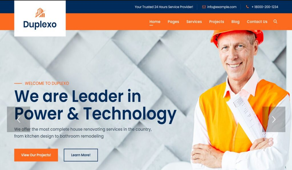 Duplexo-retina ready wordpress construction business theme