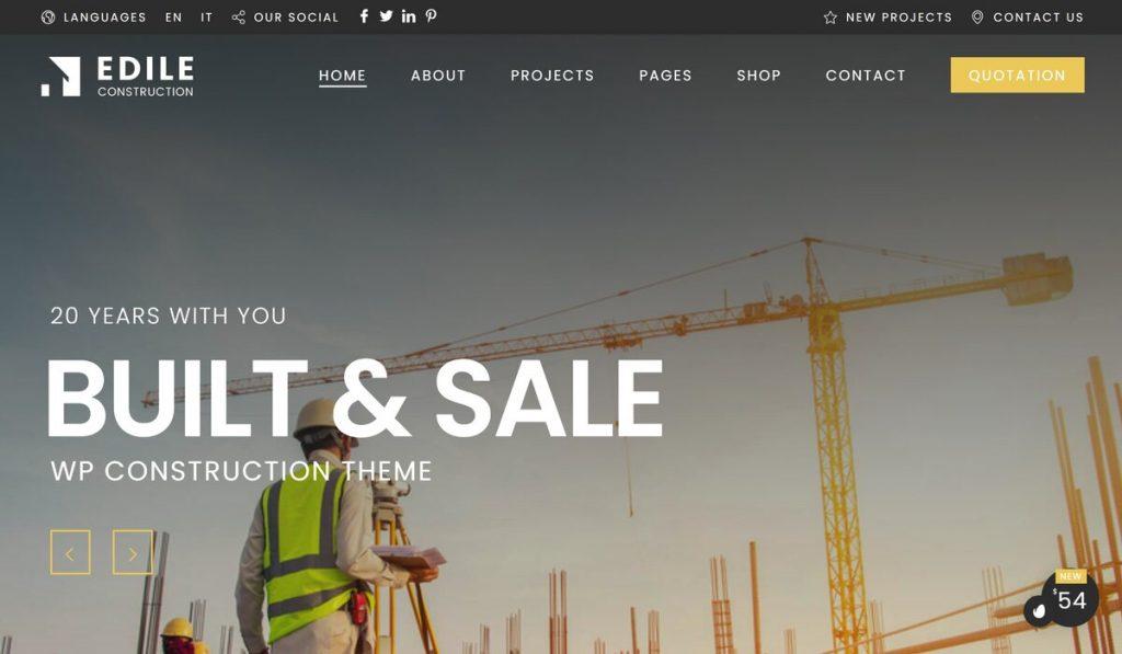 Edile-construction wordpress theme