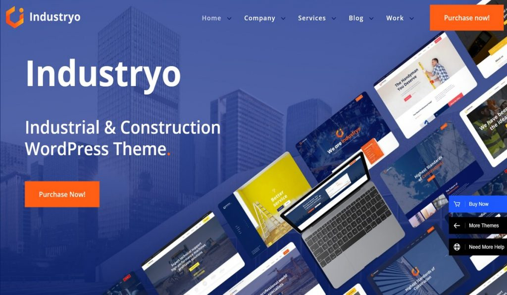 Industryo-wordpress theme for industrial and construction company