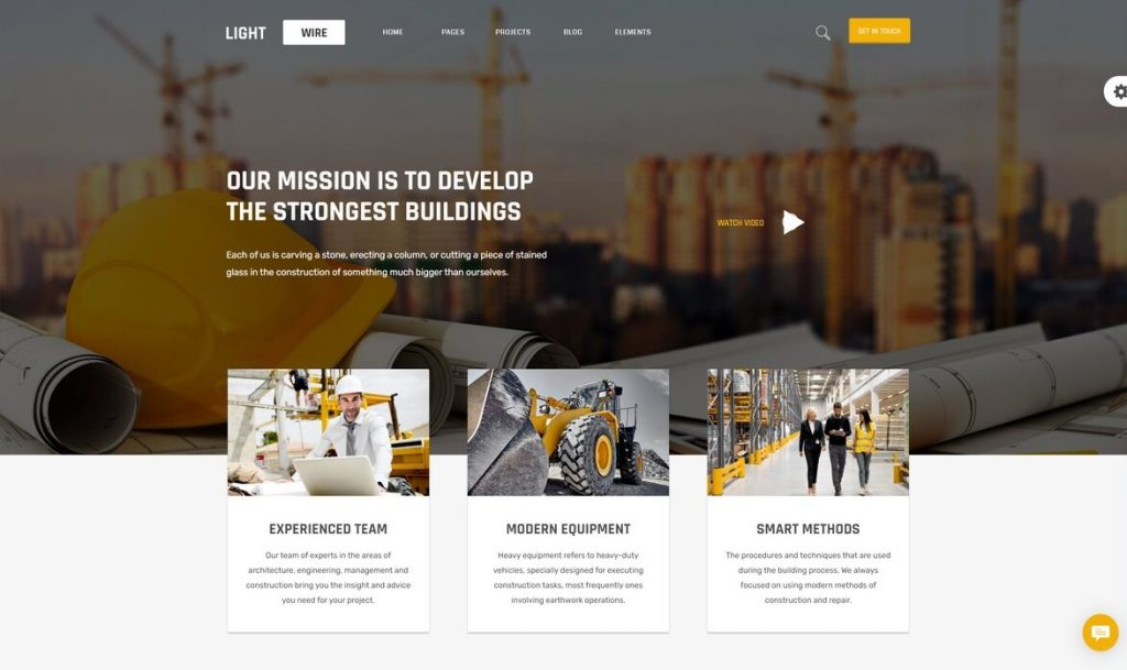 Lightwire - Construction and Industry wp theme