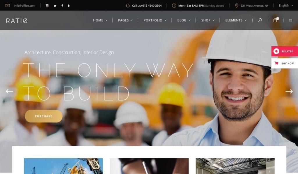 Ratio - Construction, Architecture and Interior Design Theme