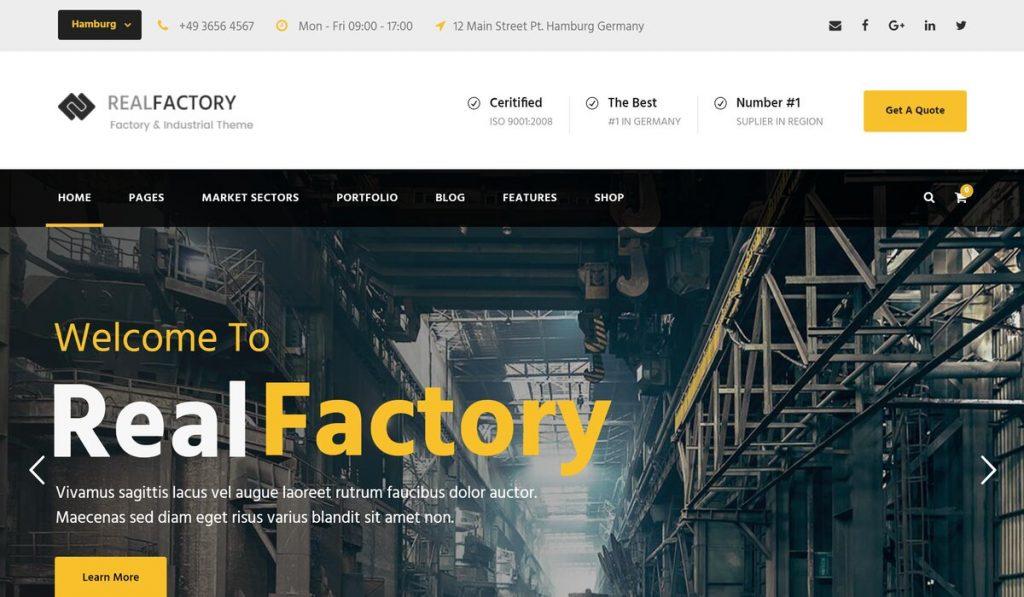 realfactory-construction company wp theme