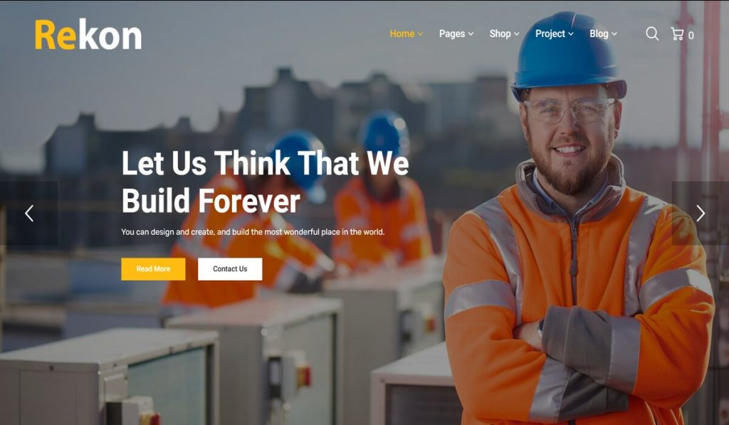Rekon- modern responsive construction company theme