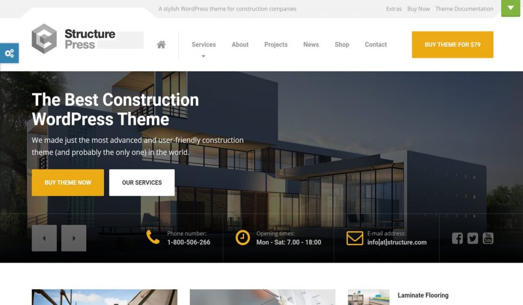 structurepress-wordpress theme for construction and architecture