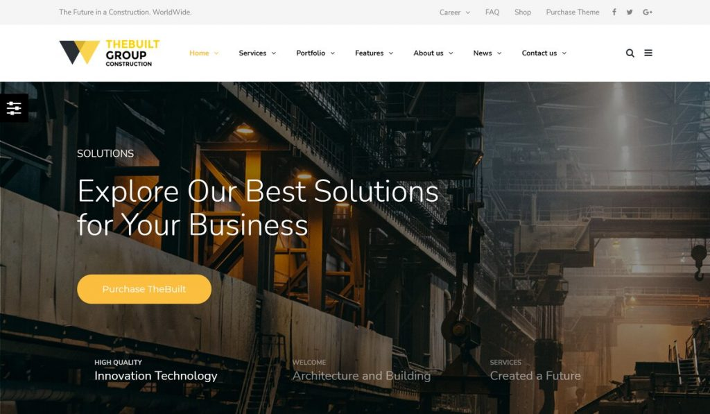 TheBuilt-construction company wp theme for website
