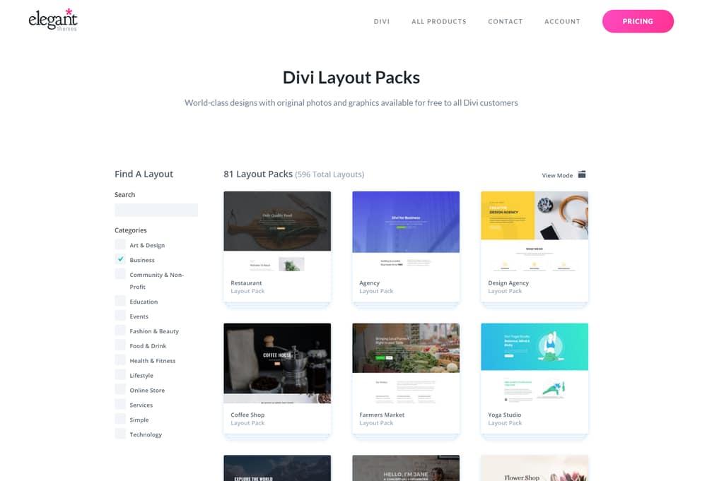 divi theme demos for small businesses