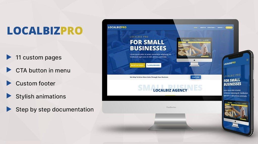 localbiz pro theme for small business