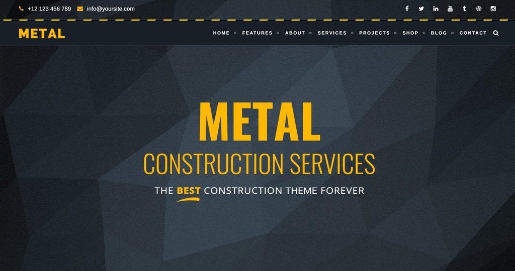 metal theme demo screenshot