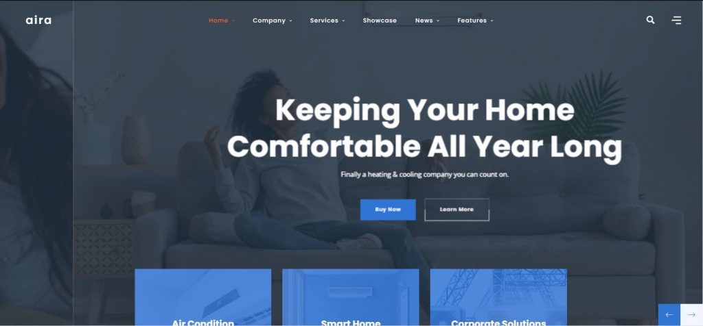 Aira wordpress themes for HVAC repair businesses