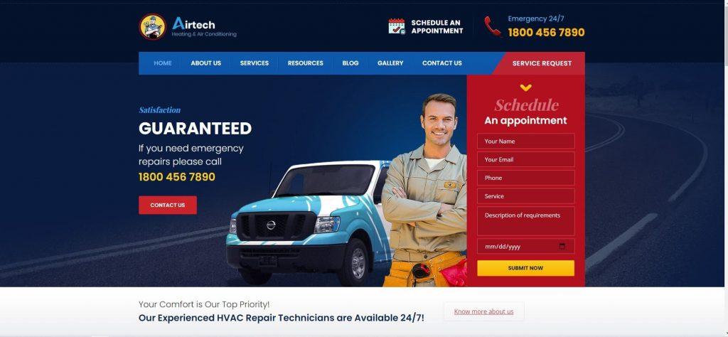 Airtech-HVAC business theme