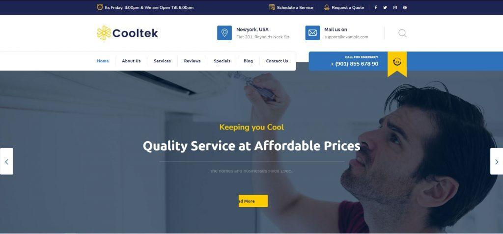 Cooltek-HVAC companies wordpress themes
