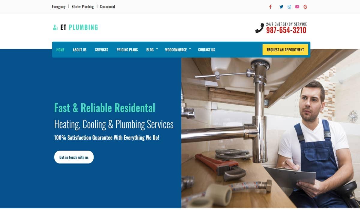 Et plumbing free theme