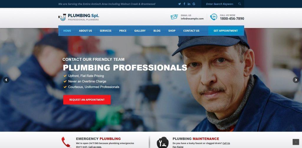 plumbing spl demo preview screenshot