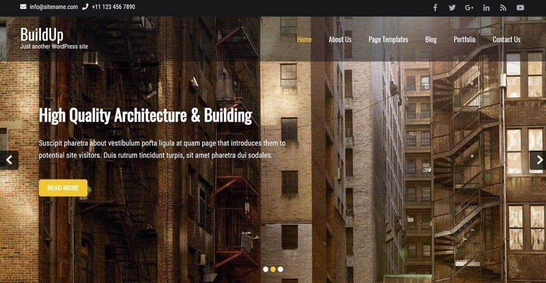 Buildup- free construction wordpress theme