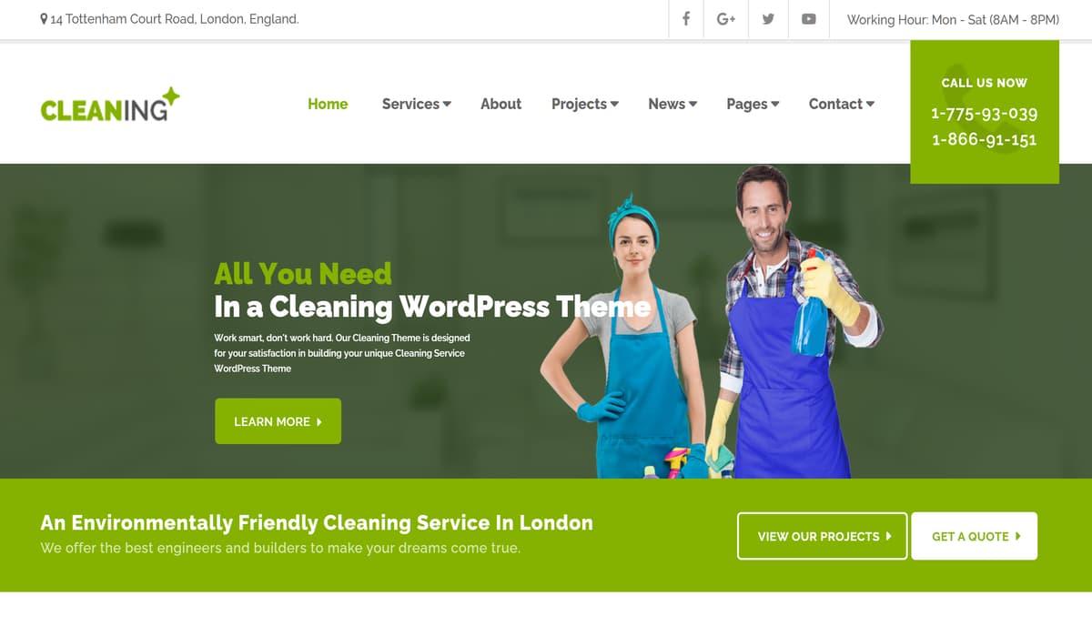 Cleaning – Purify Service WordPress Theme