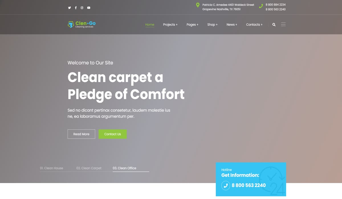 Clengo - Cleaning Company wp theme Preview image