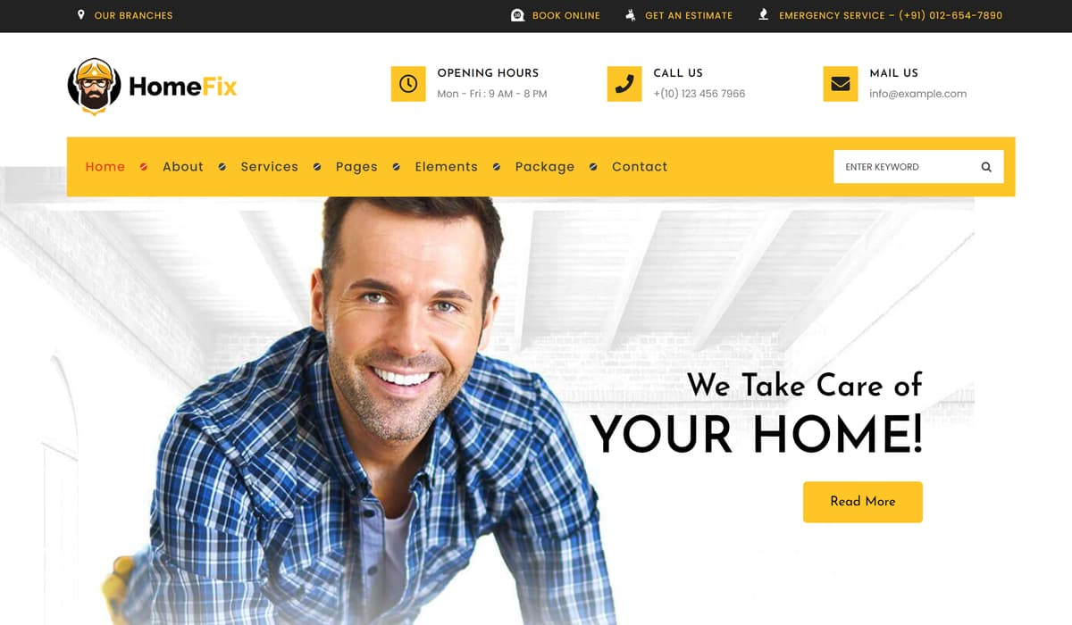 Homefix demo screenshot