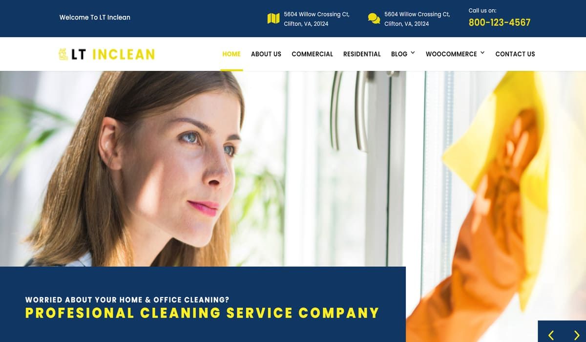 LT Inclean-free cleaning WordPress Theme