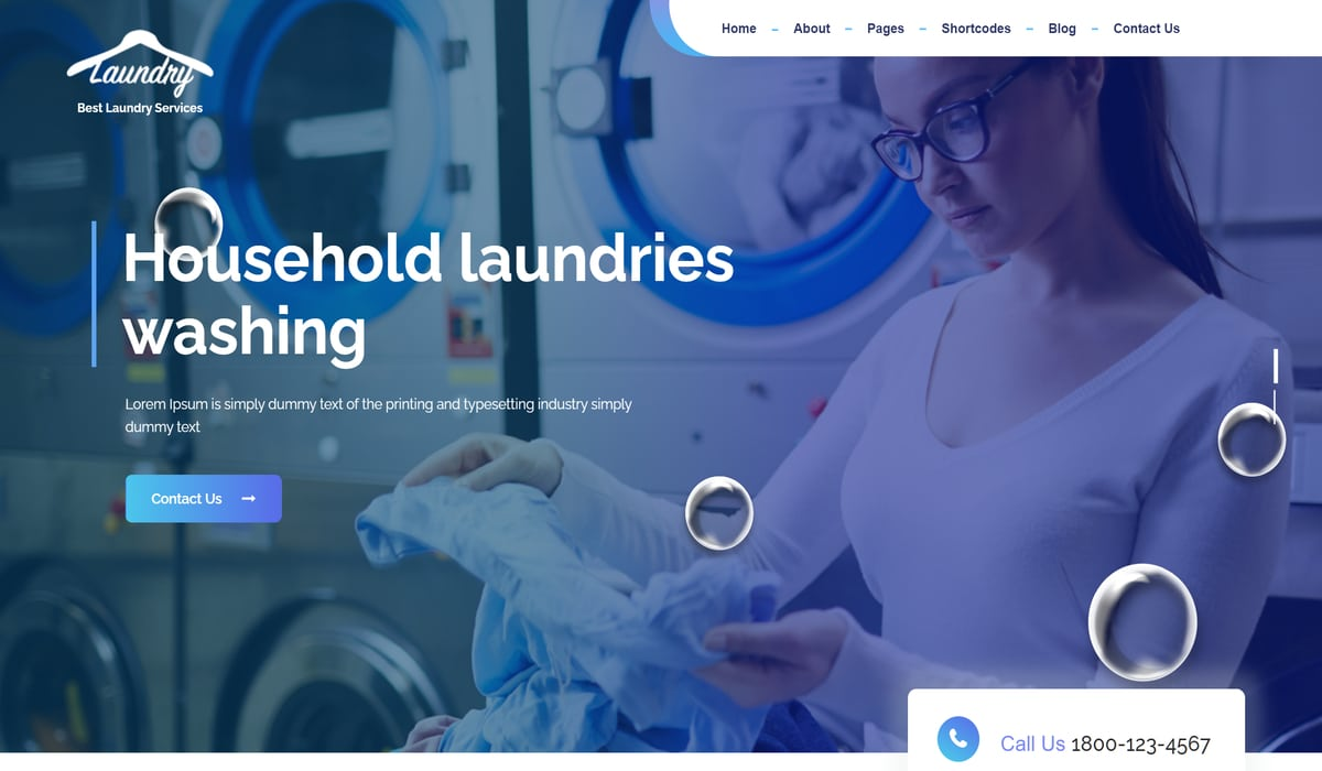 Laundry Master-Best free Laundry and cleaning Services wp theme