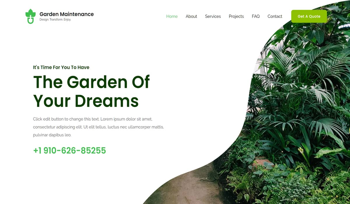 Local Garden Maintenance wp theme by astra