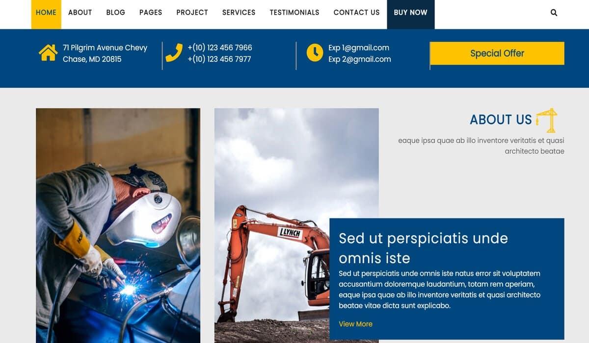 Mega construction-construction company wordpress theme