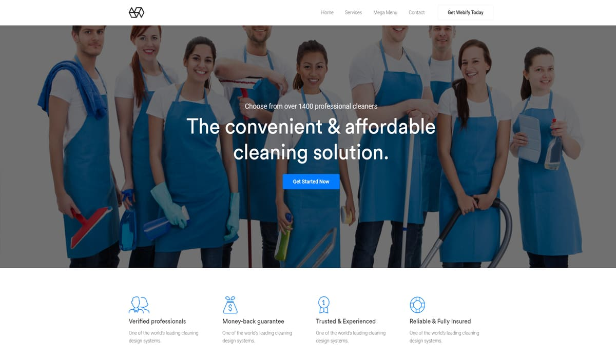 Webify-wp cleaning services theme