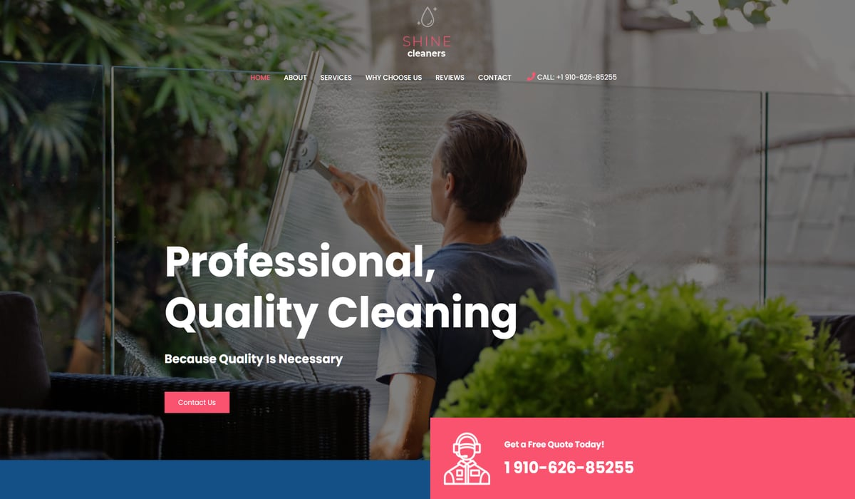 astra shine cleaners- wp theme for cleaning service providers