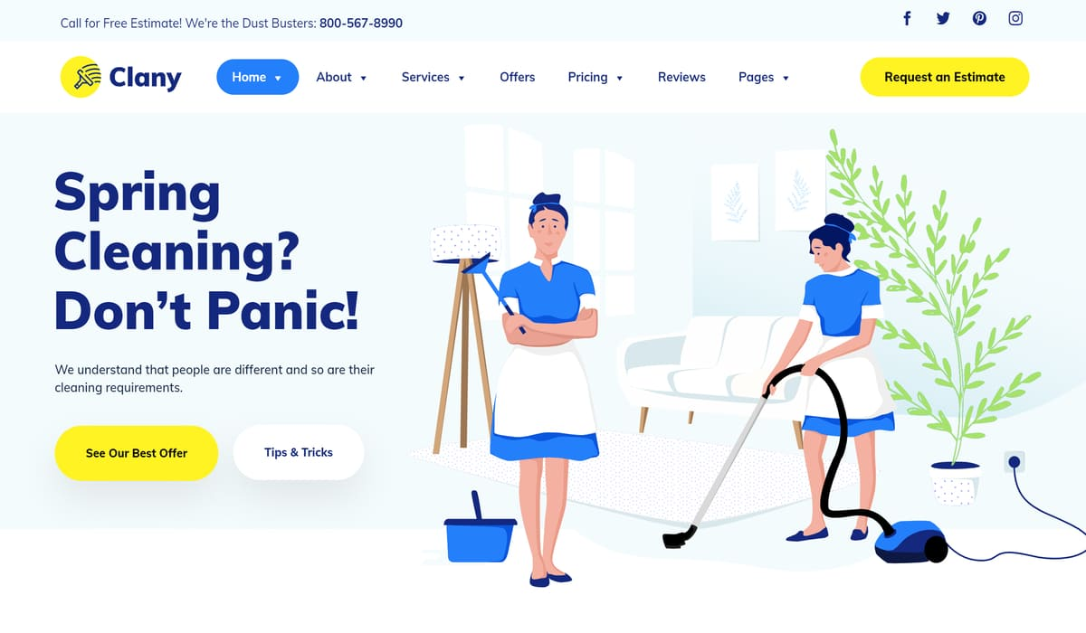 clany-cleaning services wp theme
