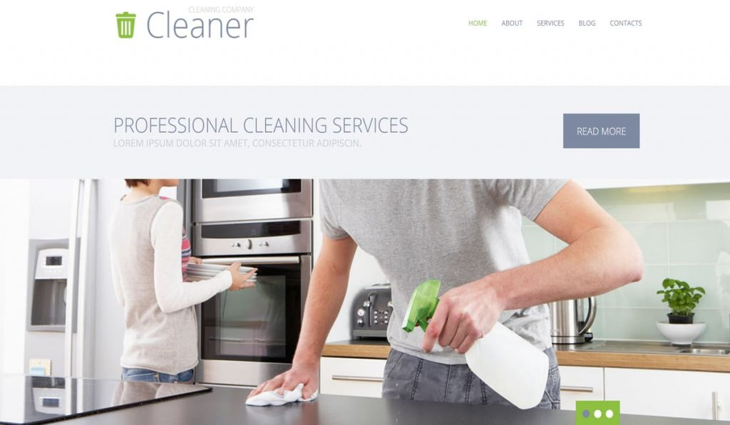 cleaner-cleaning company wordpress theme