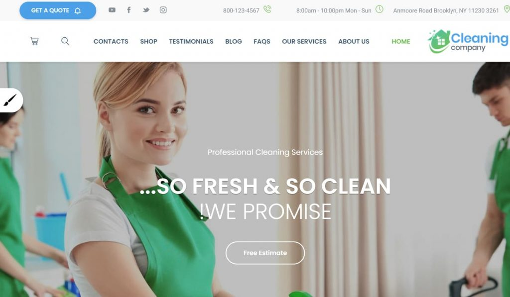 cleaning company-wordpress theme demo preview image