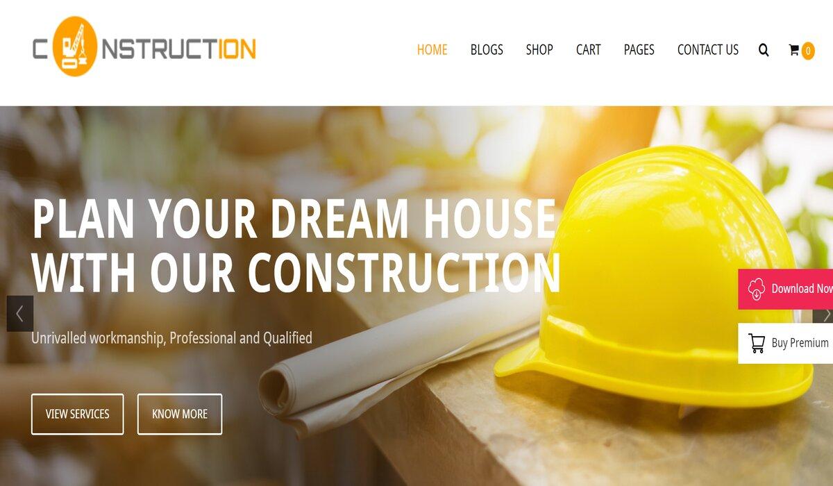 free wordpress construction theme