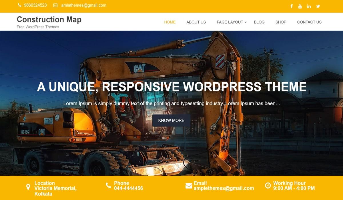 construction map free wordpress theme