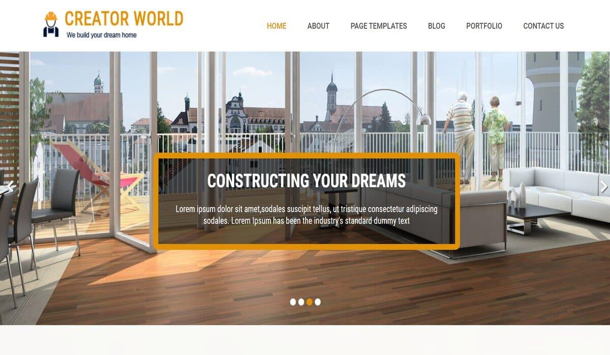 creatorworld-construction company wordpress theme