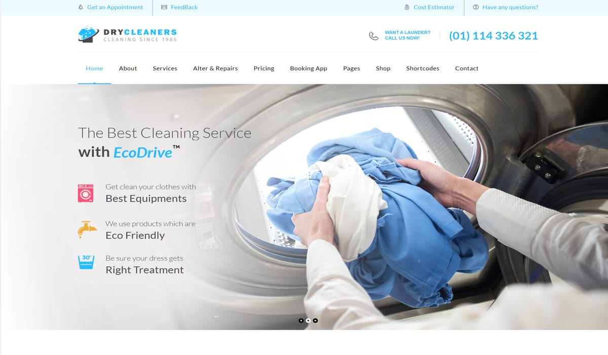 dry cleaners-multipurpose dry cleaners wordpress theme demo preview image