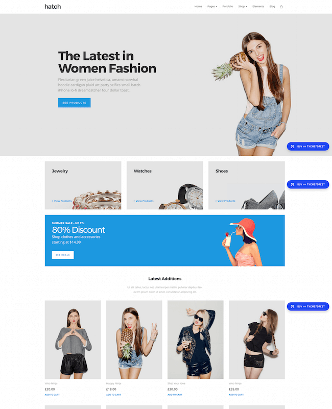 local apparel shop wp theme by hatch