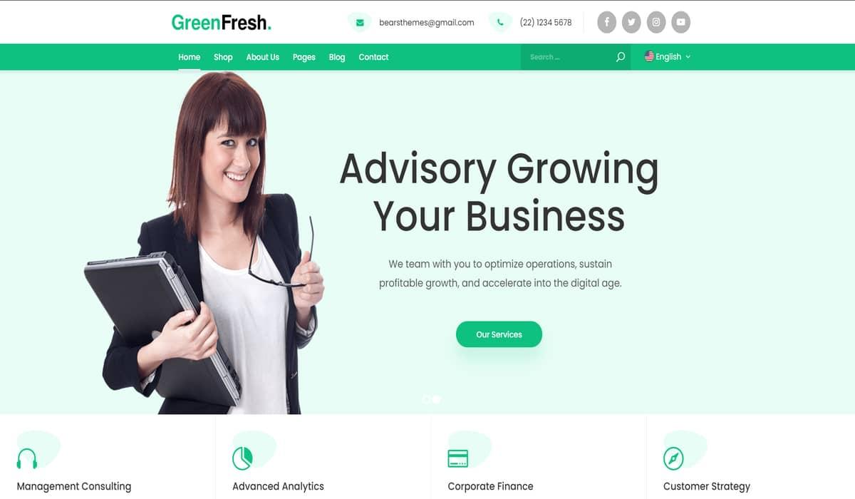local business wordpress theme-greenfresh