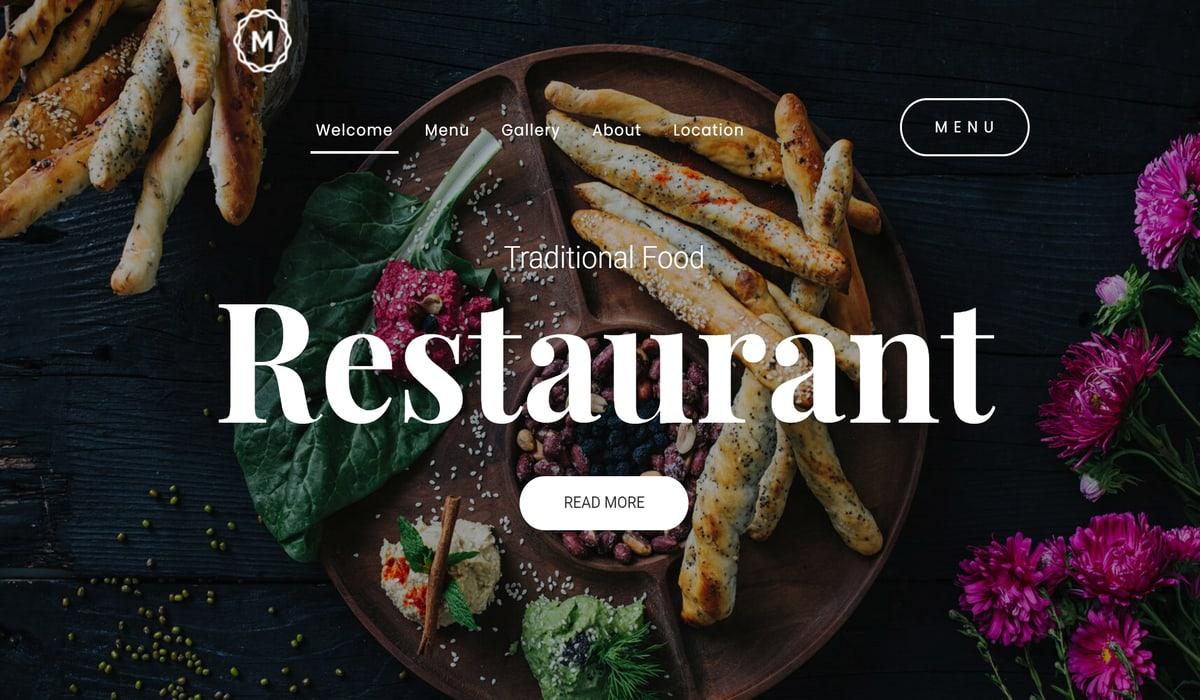 local restaurant wordpress theme