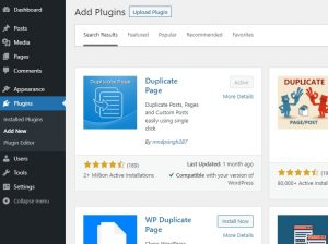 Duplicate page plugin- activation and installation
