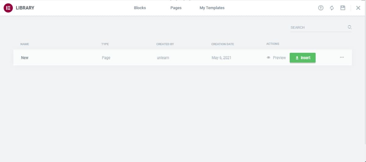duplicating elementor page- step 4