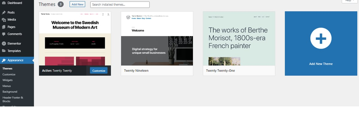 Installing new wordpress theme
