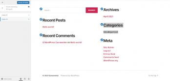 footer widget area to edit footer in wordpress site