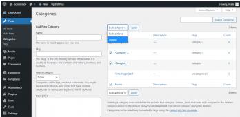How to edit categories in wordpress