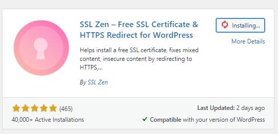 SSL Zen a free plugin for SSL certificates in wordpress