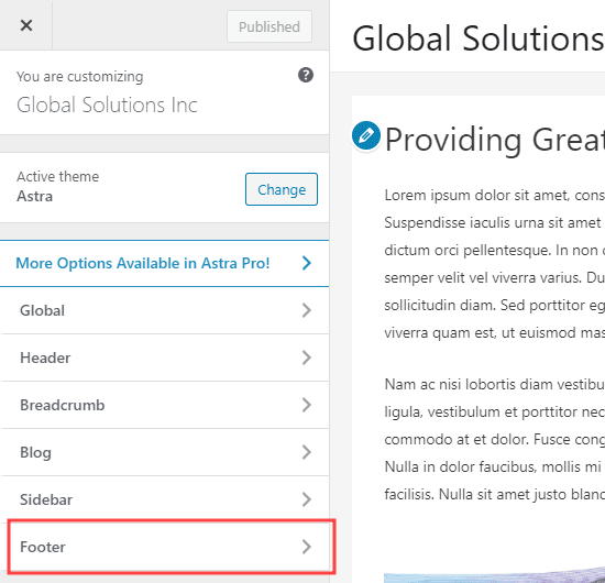 removing powered by wordpress on the footer section