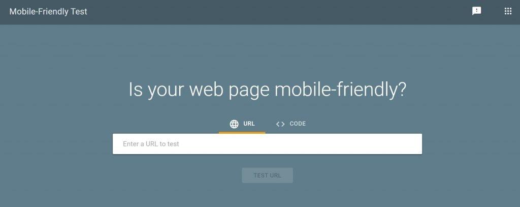 Google mobile friendly test for responsiveness
