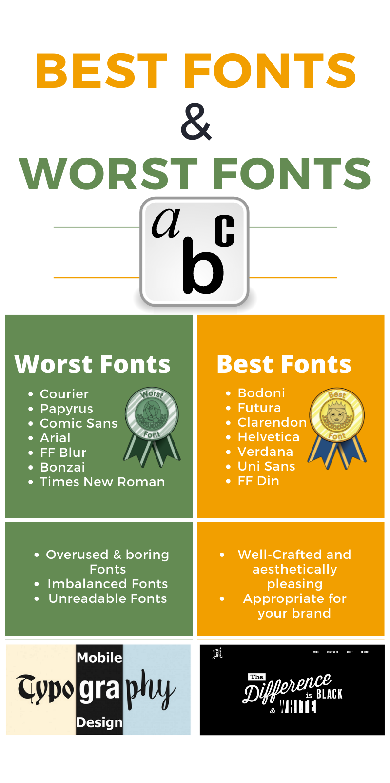 Typography for website use