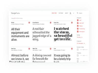 extensive font